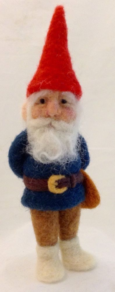 OOAK Needle Felted Traditional Gnome by artist C.E Turner #AllOccasion