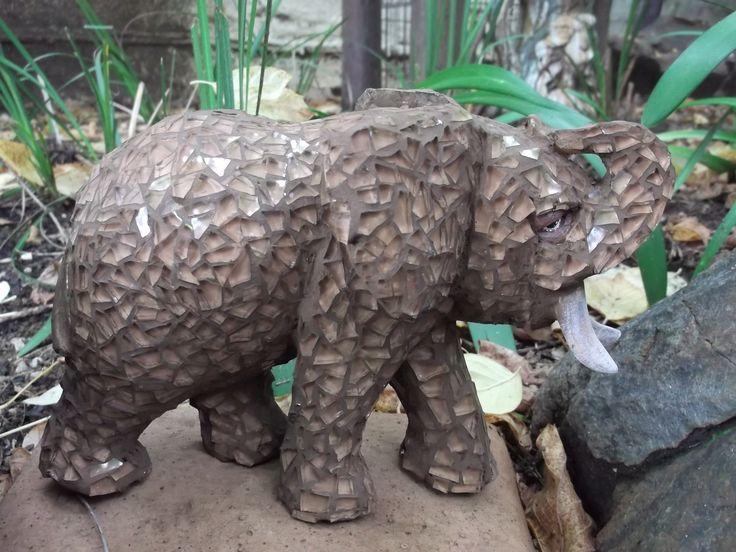 Mosaic elephant by Lindile - Sold