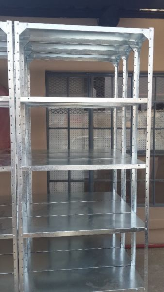 Steel shelving - New Galavanised 5 tiers units2000 x 900 x 300 R525.002000 x 900 x 330 R615.002000 x 900 x 380 R695.002000 x 900 x 450 R850.002000 x 900 x 600 R1045.00Delivery country wide. Price exclude VAT, delivery and installation. We are in Randburg Call 082 937 4757 or visit website www.shelvingandrackingco.co.za