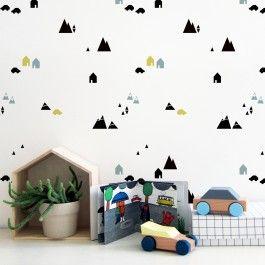 Ein Alpines Muster Für Die Wand: Eine Günstige Und Schnelle Alternative Zur  Tapete. Die Schablone Ist Leicht Zu Handhaben Aber Groß Genug, Um Schnell  Zu ...