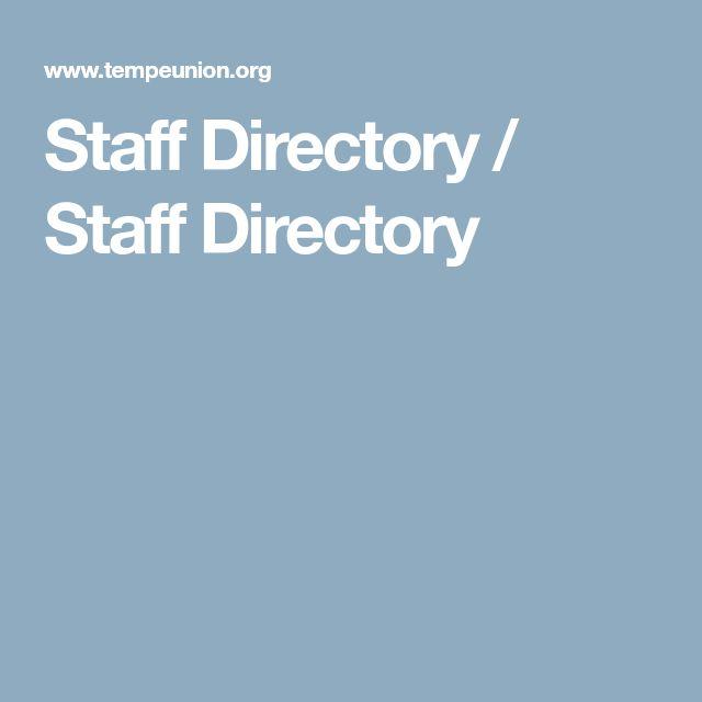 Staff Directory / Staff Directory