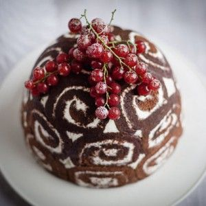 Gordon Ramsay's Christmas bombe is a great alternative to the traditional Christmas pudding recipe. The combination of chocolate-y Swiss roll and sweet filling is delicious is a great treat on Boxing Day.