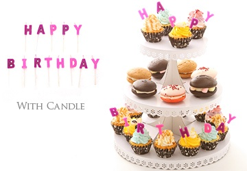 バースデーセット~カップケーキ&ウーピーパイ~ Birthday set ~Cupcake & Whoopie pie~