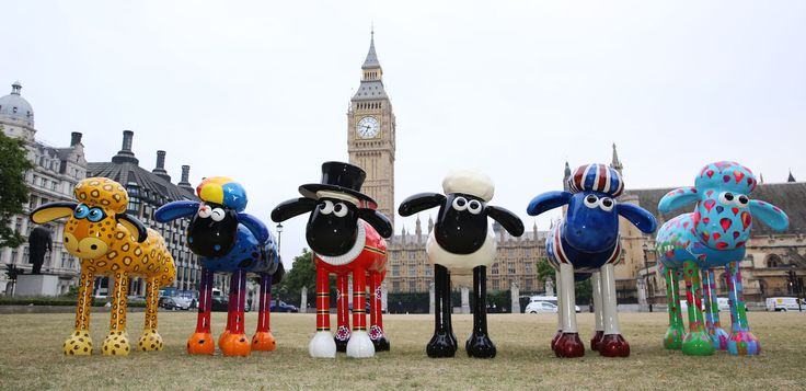 Giant sculptures of internationally-acclaimed animated character Shaun the Sheep will pop up in new pastures in two 'baa-rilliant' art trails to raise money for sick children. Shaun in the City will feature 120 giant sheep sculptures decorated by celebrities and artists, herded on the streets of London and Bristol in a 'trail of two cities'. #ShaunTheSheep #ShaunintheCity