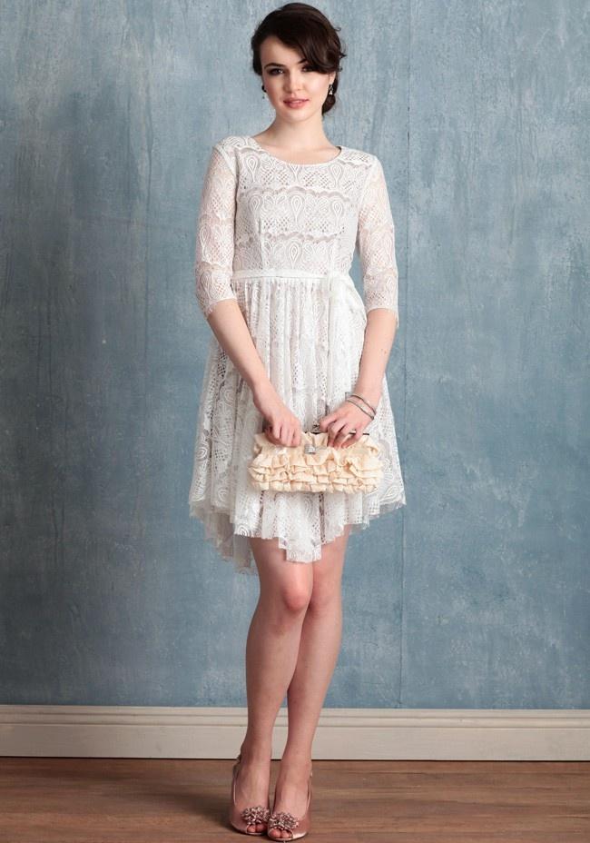 55 best tea-length + short wedding dress images on Pinterest | Short ...