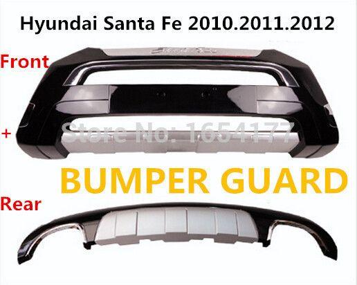 Санта-Фе БАМПЕРА (Передние + Задние) Авто БАМПЕР Пластина ДЛЯ Hyundai Santa Fe 2010.2011.2012 ISO9001 Высокого Качества роскошные модели