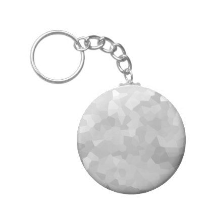Modern Grayscale - Gray and White Polygon Shape Ab Keychain - college dorm gifts student students accessories freshmen