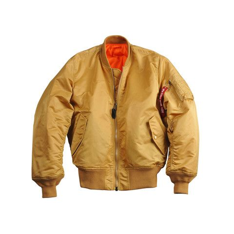 Gold Alpha Industries MA-1 Flight Bomber Jacket