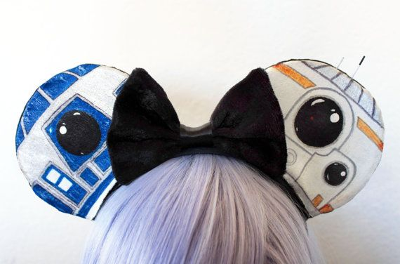 The 'Little Droids' Ears - Disney Star Wars R2D2 BB8 Mickey Inspired Ears