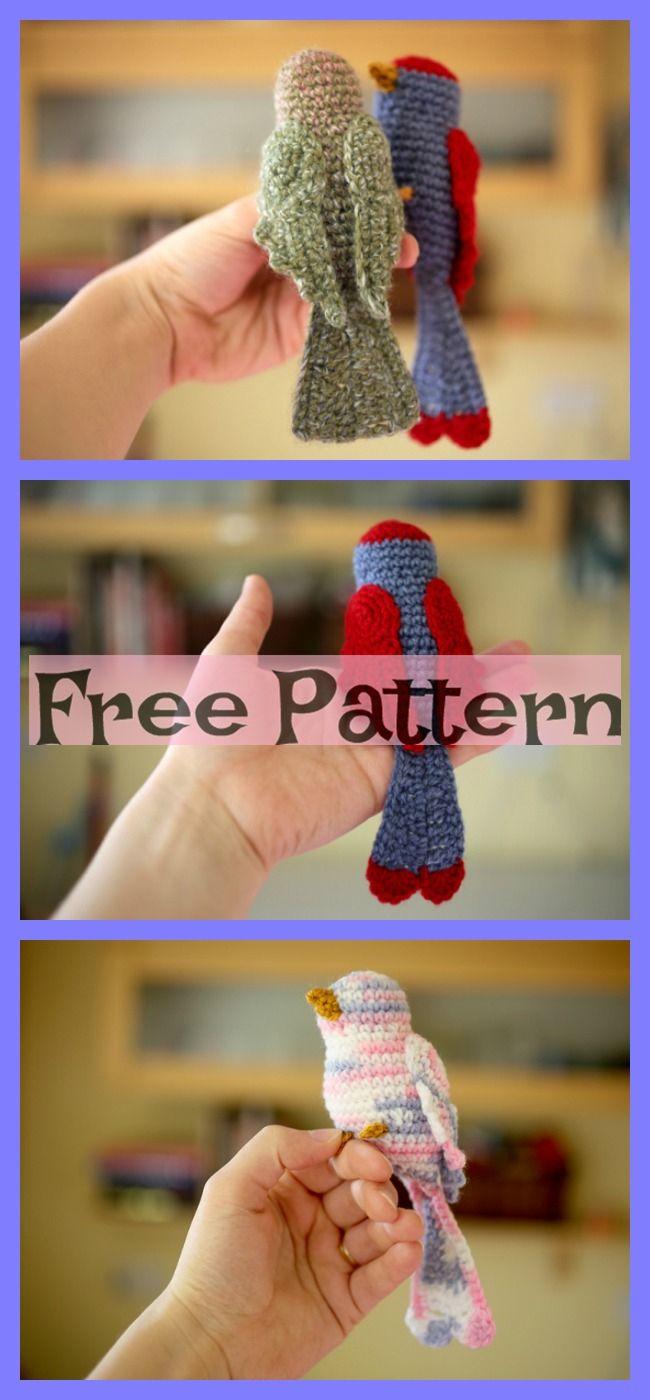 Crochet Bird Sparrow Amigurumi – Free Patterns