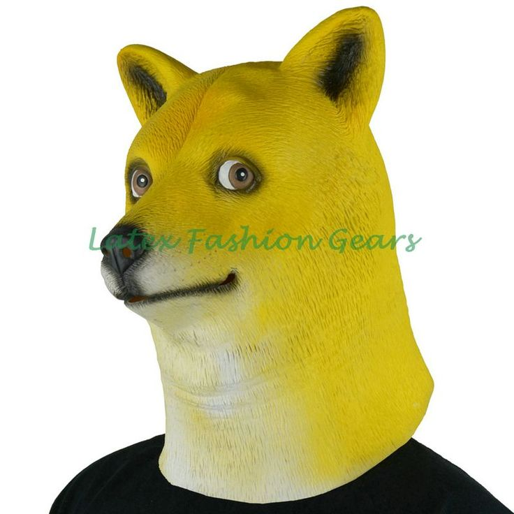 2016 NEW ! Funny Head Doge 3D Latex Cosplay Mask Rubber Dress Costume God Dog Hood - http://toysfromchina.net/?product=2016-new-funny-head-doge-3d-latex-cosplay-mask-rubber-dress-costume-god-dog-hood
