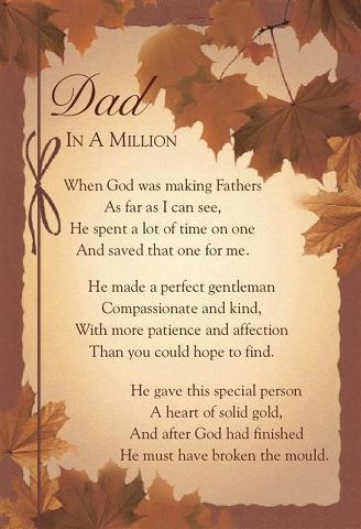 In loving memory of my most beloved, my dearest treasure, my one and only, my Poppy...my dad...my 'o' grandpa! My bright eyes can't shine without you.