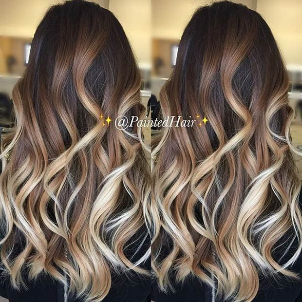 31 balayage highlight ideas to copy now beige blonde summer and dark brown. Black Bedroom Furniture Sets. Home Design Ideas