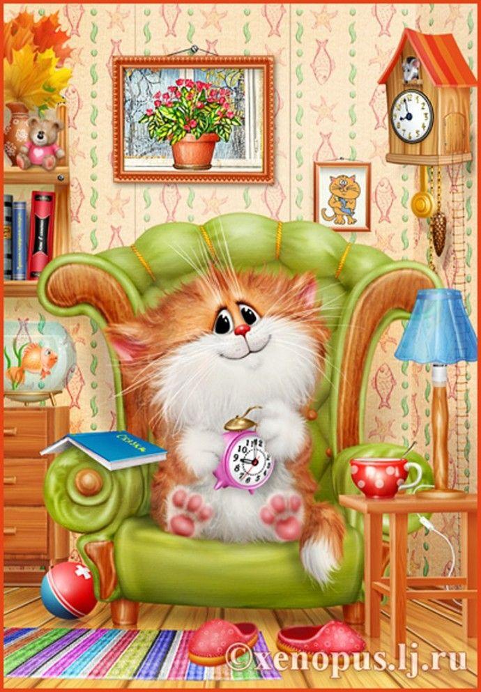 Картинки коты долотова