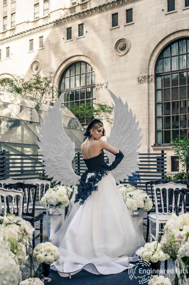 Angel Wings for the Wedluxe magazine#wedding#event#design#decor#fashion #sculpture#3dfoam#3d#toronto#wedding#event