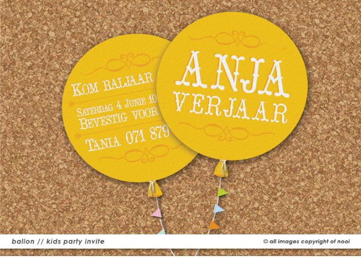Anja's Birthday invitation  www.nooievents.co.za