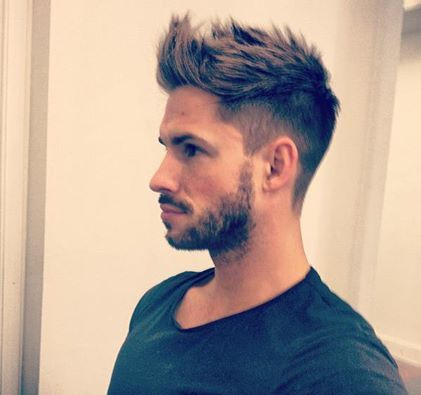mens spiky hairstyle