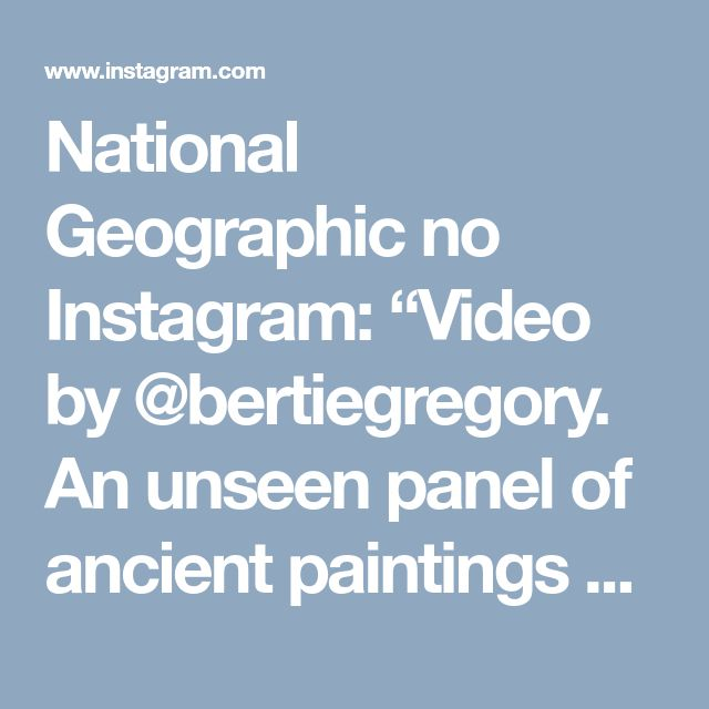 "National Geographic no Instagram: ""Video by @bertiegregory. An unseen panel of ancient paintings depicting jaguars and other jungle animals in Chiribiquete National Park.…"" • Instagram"