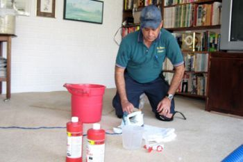 5 tips to remove the worst carpet stains~For more serious stains, you may want to consult a professional carpet cleaner. Your type of carpet -- Berber, thick or thin frieze, natural or synthetic -- will determine how aggressive you can be in stain removal and whether you need to call in professional help. (Photo courtesy of Angie's List member Russel H. of Hialeah, Fla.)