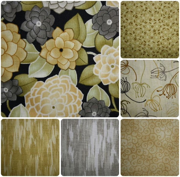 Modern Noir range of fabrics by Red Rooster Fabrics