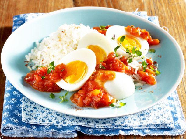 Unser beliebtes Rezept für Gekochte Eier in scharfer Paprikasoße und mehr als 55.000 weitere kostenlose Rezepte auf LECKER.de.