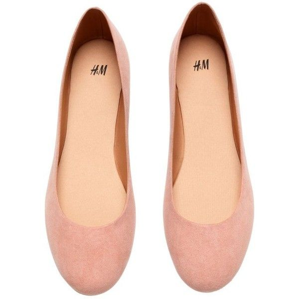 H&M Ballet Flats ❤ liked on Polyvore featuring shoes, flats, ballerina shoes, h&m, ballerina pumps, skimmer shoes and h&m shoes