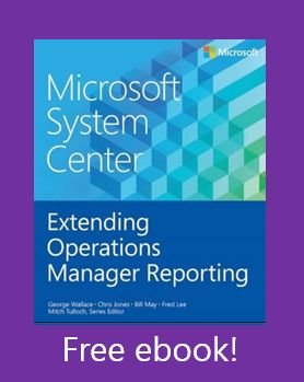 Free eBook - Microsoft System Center Extending Operations Manager Reporting - This free ebook dives into how to extend the reporting capabilities within System Center Operations Manager. By using this information, Operations Manager administrations will have a more comprehensive approach to providing custom reports tailored to their environments. Learn how to create these custom reports and package them up in management packs for deployment.
