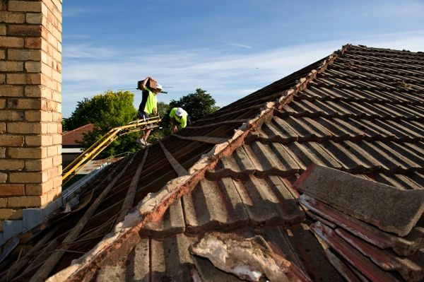 Re-Roofing: Off with the old...