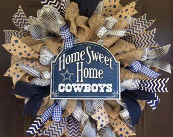Dallas Cowboys wreath front door wreath football wreath
