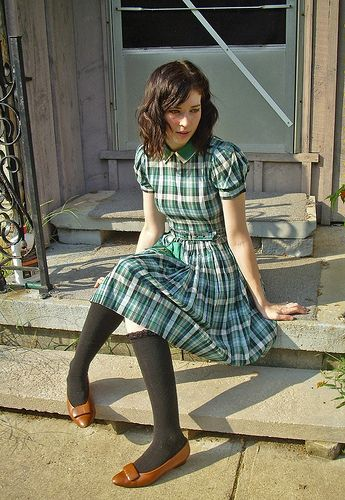 Girls's uniforms - keeping the prints in darker colours as opposed to kitsch pastels