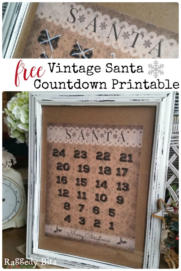 Remember when you were a little person and you would countdown sleeps until santa was coming? Sharing my FREE Vintage Santa Countdown Printable for your family and friends | www.raggedy-bits.com