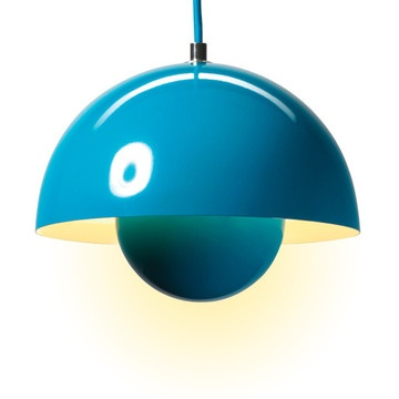 Flower pot Pendant lamps in a ton of colors. Seriously. Can't get enough of this.