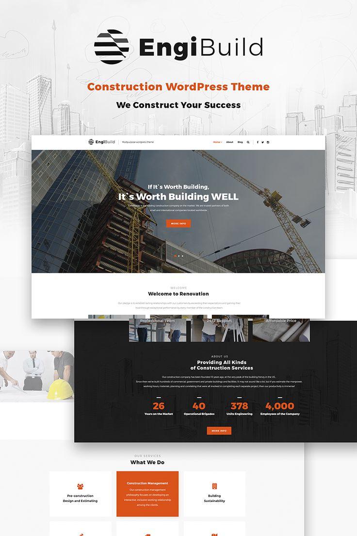 EngiBuild - Construction WordPress Theme #66850