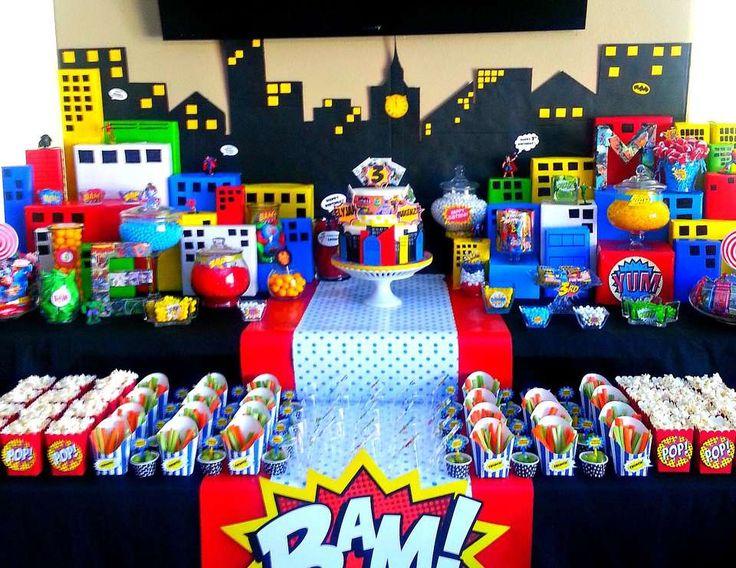 "SuperHero Pop Art Comic / Birthday ""Superhero Comic Party"" | Catch My Party"
