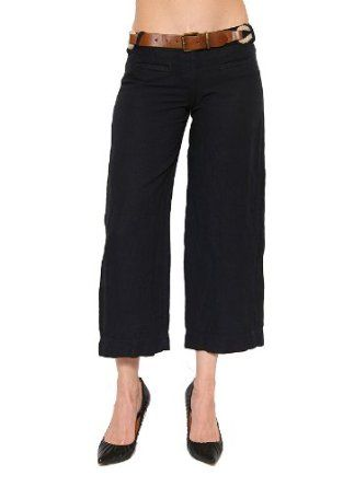 Women's Bailey 44 Gilligan Linen Cropped Pant in Navy Size XS Bailey 44. $133.20