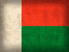 Madagascar Flag Art - Madagascar Flag Vintage Distressed Finish by Design Turnpike