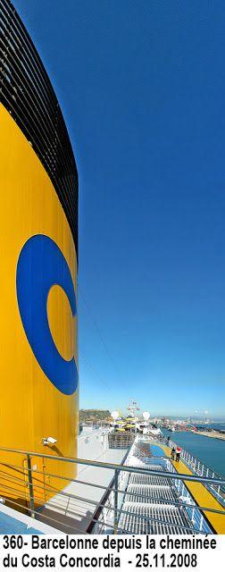 Costa Concordia - Barcelone depuis la cheminée