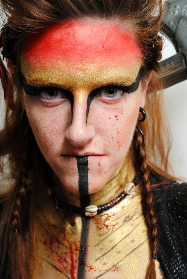 Intense warrior creative makeup by one of our talented students