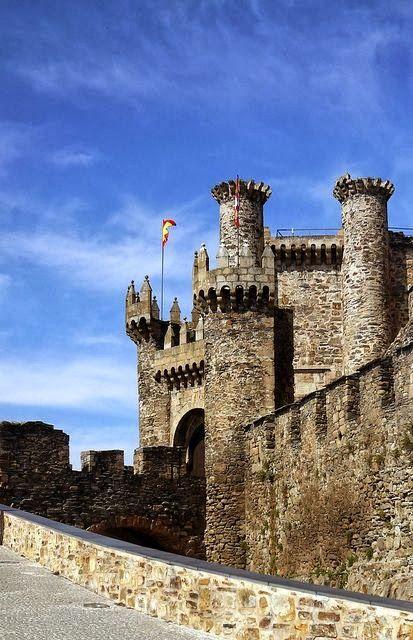 Vár a templomos Lovagok Ponferrada Spanyolország