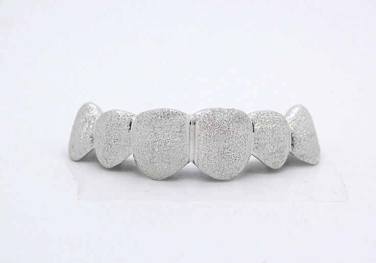 Grillz Dental Grills 152808: Custom 10K 14K White Gold Grillz Plated Full Diamond Dust Style Punchout Grill BUY IT NOW ONLY: $124.99