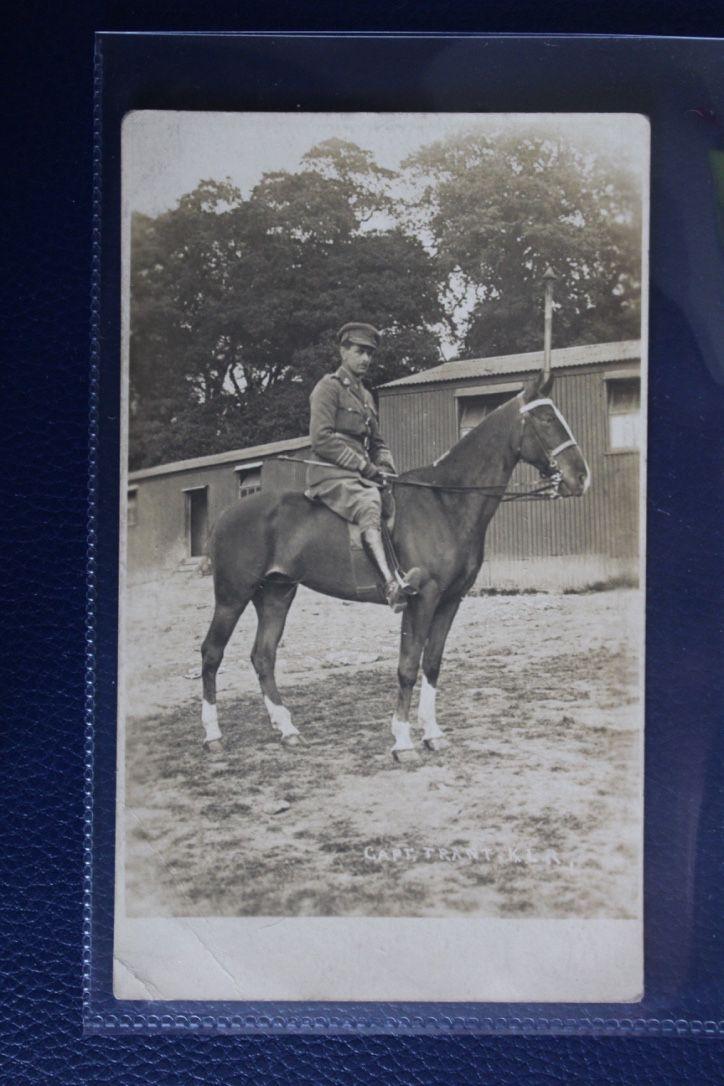 WW1 Era Photographic Postcard - Captain Trant on Horseback KLR, £6.50