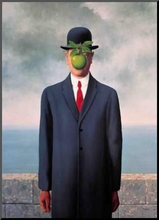 Le Fils de L'Homme (Son of Man) Mounted Print by Rene Magritte at Art.com