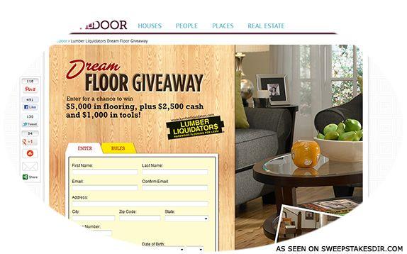 FrontDoor.com/dreamfloor – Lumber Liquidators Dream Floor Giveaway