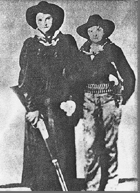 """Charley Wilson, better known as """"Little Britches'"""", born in 1834 in Britain, was a cattle thief from the Indian Nation of OklahomaVery little is known about this historical gunfighter & cattle thief except that he lived as a man for over 40 years till he had to move into a facility for the elderly at age 63, where authorities forced him to dress as a woman.Charley is listed as """"one of the most famous female outlaws ever to strap on a six gun"""" despite his masculine dress and choice of male n..."""