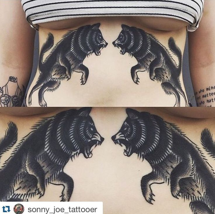Better picture of this sternum/stomach piece by Sonny Joe !  www.skinsandneedlestattoo.com