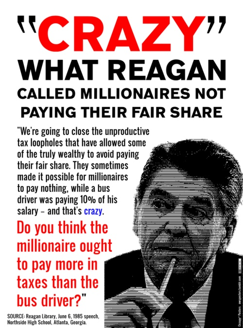 Reagan, still cited as an influence by most conservatives/republicans. Okay Republicans, how about considering his influence while fixing the fiscal cliff??!!