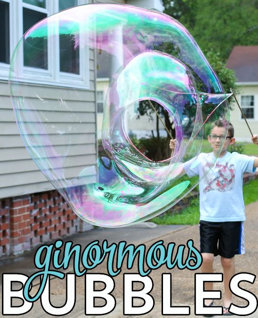 Ginormous Bubbles!  We have seriously been making these every day this summer. SO much fun!