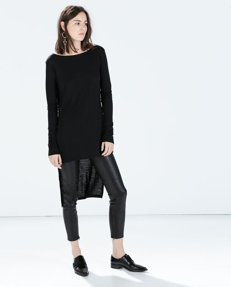 Image 1 of ASYMMETRIC T-SHIRT from Zara