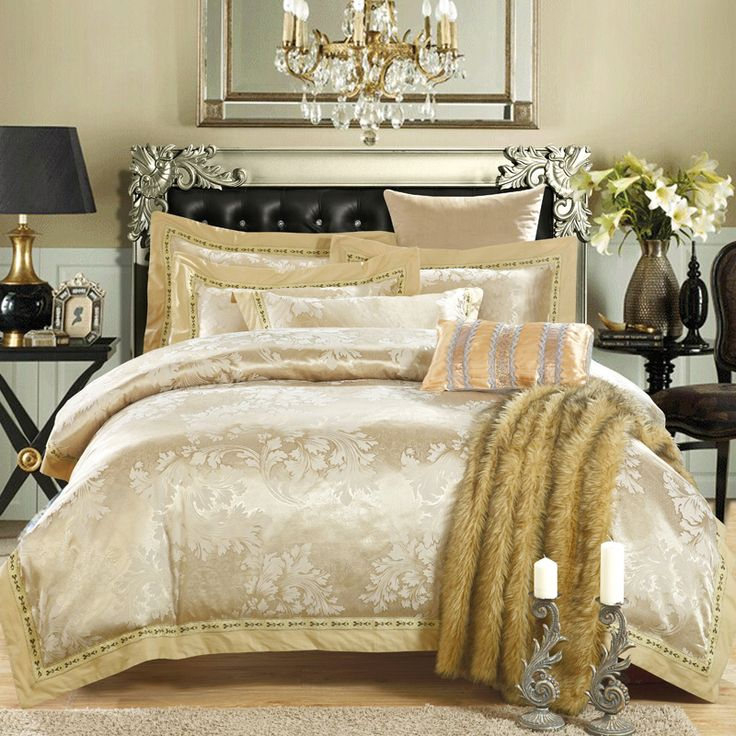 new jacquard style bedding set bed sheet duvet cover bed linen the royal style gold camel