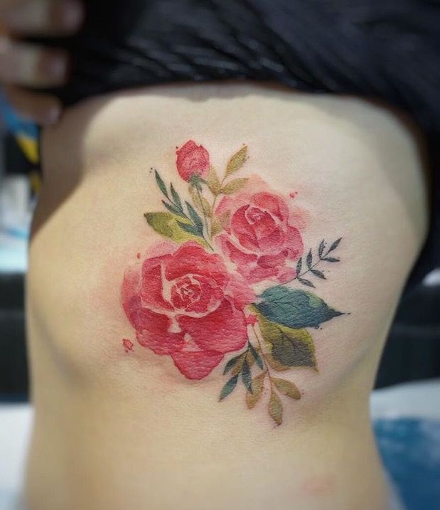 best 25 watercolor flower tattoos ideas on